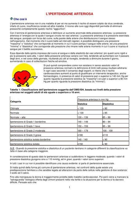 dieta ipertensione arteriosa pdf