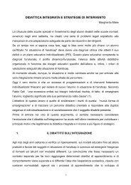 Didattica integrata e strategie di intervento - Facoltà di Scienze della ...