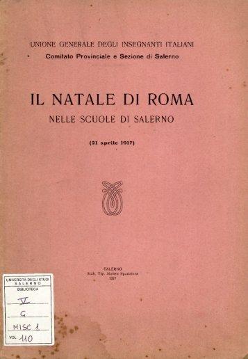 IL NATALE DI ROMA - EleA@UniSA