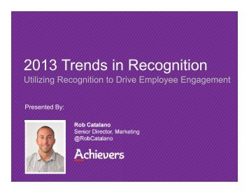 2013 Trends in Recognition - Achievers