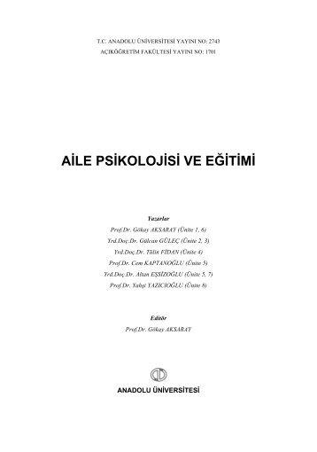 aile psikolojisi ve eğitimi - Açıköğretim e-Öğrenme Portalı - Anadolu ...