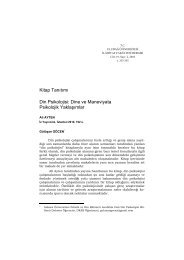 Kitap Tanıtımı Din Psikolojisi: Dine ve Maneviyata Psikolojik ...