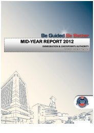 mid-year report 2012 immigration & checkpoints authority - ICA