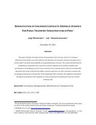 renegotiation of concession contracts:empirical evidence for public ...