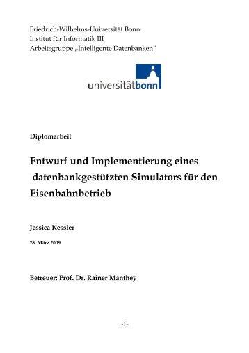 Entwurf und Implementierung eines datenbankgestützten Simulators ...
