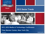 2012 Sector Trends - JEGI