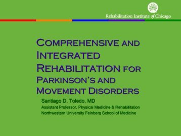 Integrated Rehabilitation for - Parkinson's Disease and Movement ...