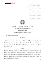 Consiglio di Stato in sede giurisdizionale, Sezione ... - Consulta online