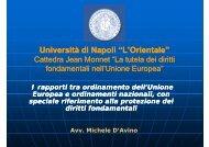 I rapporti tra ordinamento dell'Unione europea e ... - L'Orientale