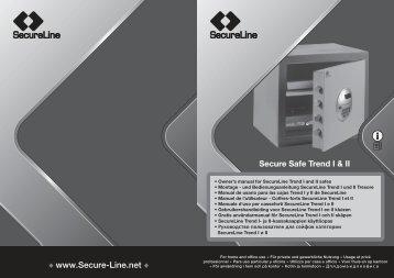SecureLine Secure Safe Trend 2 TII-27K Manual - Safes
