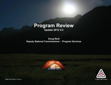 Program Review Update. April 2012 - Scouts Canada