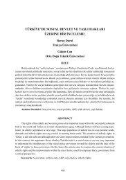 türkiye'de sosyal devlet ve yaşlı hakları üzerine bir inceleme