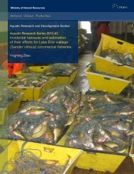 (Sander vitreus) commercial fisheries - Ministry of Natural ...