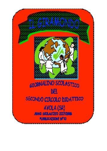 Il GIRAMONDO 2008 visiona il giornalino della nostra scuola