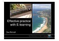 Effective practice with E-learning - Ako Aotearoa