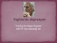 Geriatrik Depresyon - Tahad.org
