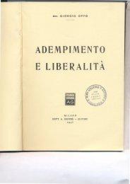 adempimento e liberalita - Università degli Studi di Roma Tor Vergata