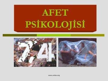 Afet Psikolojisi (pdf) - UMKE