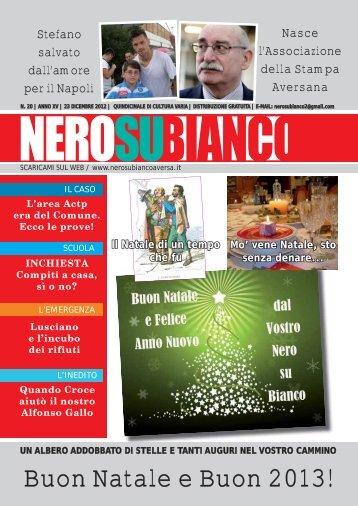 N.20 | Anno XV | 23 Dicembre 2012 - Nero su Bianco