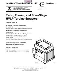 309240L Two, Three, and Four-Stage HVLP Turbine Sprayers