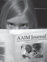 Volume 44 Issue 2 - Arkansas Association of Instructional Media