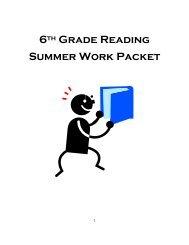 Language Arts Winter Packet Grades 6th