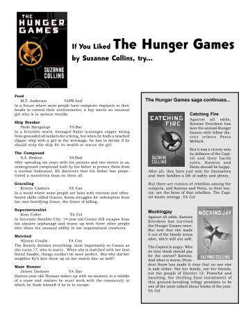 social control and the hunger games essay Hunger games essay conflict in hunger games an exposé of control in the hunger games & v for vendetta 'government is not the solution to our problem.