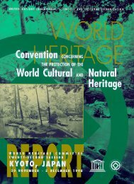 PDF version: Report of the Committee - UNESCO: World Heritage
