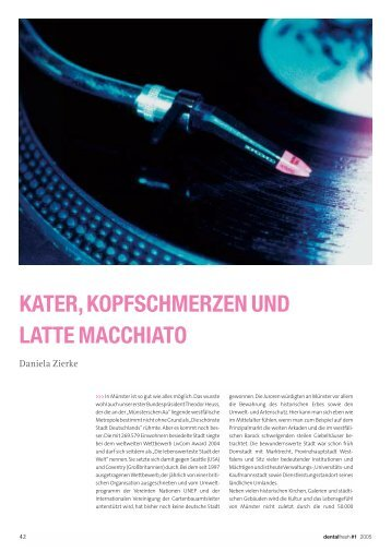 kater, kopfschmerzen und latte macchiato - zahniportal.de