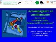 Accompagnare al cambiamento - Azienda USL di Reggio Emilia