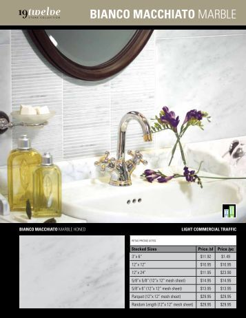Bianco MaccHiaTo marble - Ames Tile & Stone