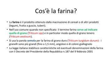 Presentazione serata farine - GAS Canova