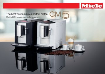 Miele's CM 5 freestanding coffee systems