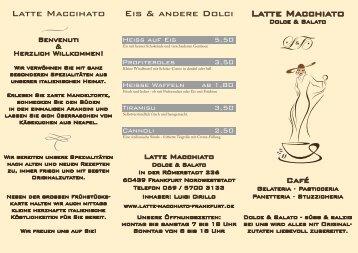 Latte Macchiato Eis & andere Dolci Latte Maccihato - Café Latte ...
