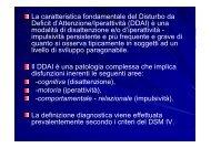 Disturbo da Deficit dell'Attenzione/Iperattività - ITIS