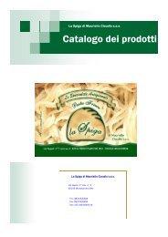 Catalogo dei prodotti