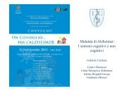 I sintomi cognitivi e non cognitivi - Italian Hospital Group