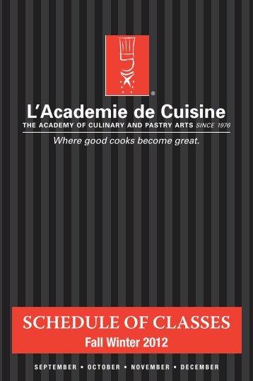 Fall 2012 - L'Academie de Cuisine
