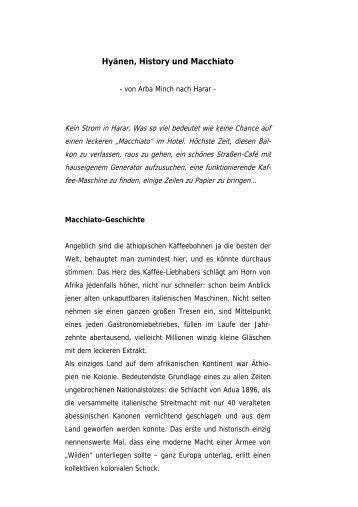 """Download: """"Hyänen, History und Macchiato"""" - Peter Oefele"""