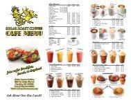 CAFE MENU CAFE MENU - Solar Roast Coffee