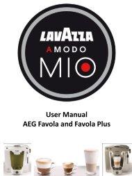 User Manual AEG Favola and Favola Plus - Lavazza Store