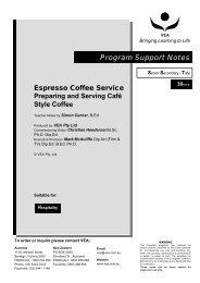 Espresso Coffee Service - VHS - VEA