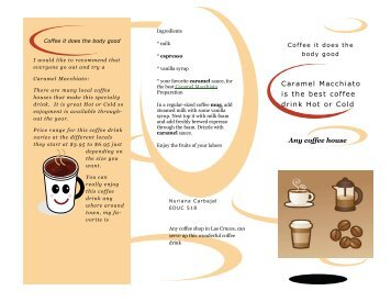 Caramel Macchiato is the best coffee drink Hot or Cold Any coffee ...