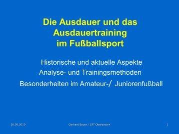 Schnelligkeit und Ausdauer im Fußball ... - GFT Oberbayern