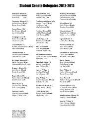 StudentSenateDelegates-2012-2013 - Analy High School