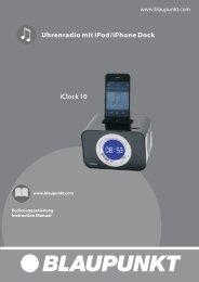English instruction manual - Blaupunkt