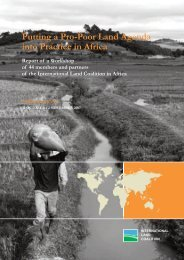 Putting a Pro-Poor Land Agenda into Practice in Africa - Le Hub Rural