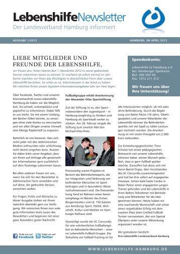 LebenshilfeNewsletter - Lebenshilfe Landesverband Hamburg