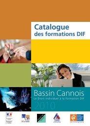 Catalogue des formations DIF - Maison de l'Emploi du Bassin Cannois