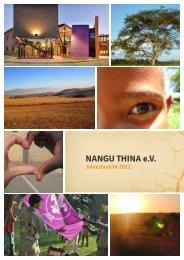 Nangu Thina Jahresbericht 2012 - Nangu Thina e.V.